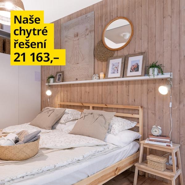 Promyšlená ložnice pro milovníky odpočinku za 21 163 Kč.