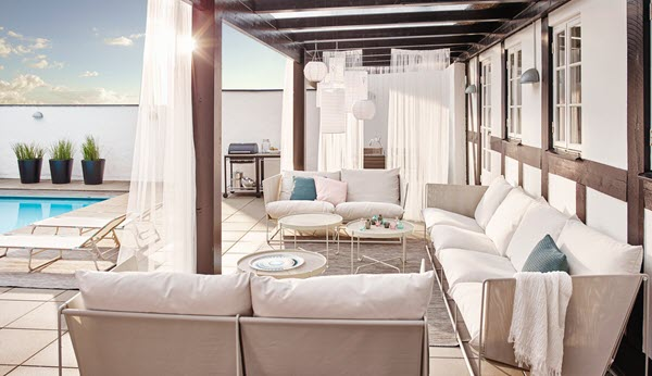 プールサイドやカフェなどの空間も演出できるHAVSTEN/ハーヴステン シリーズ