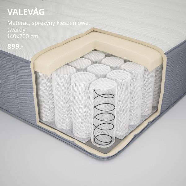 Przekrój materaca VALEVÅG