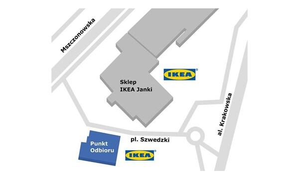 Punkt odbioru w sklepie IKEA Janki
