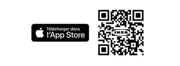 QR code IKEA Place appli