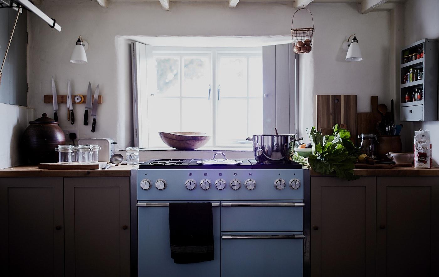 Rebeccas Küche im Landhausstil.