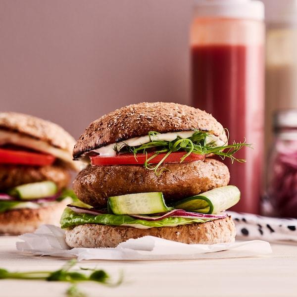 Recept zamatos, növényi alapú hamburgerhez.