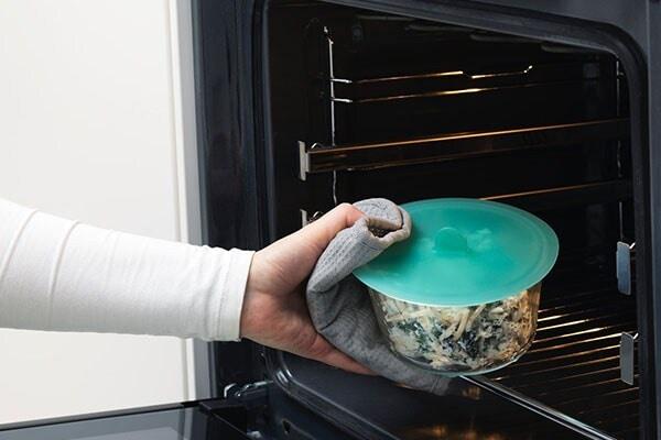 Recipiente de vidrio circular de 600ml IKEA 365+ con tapa de silicona