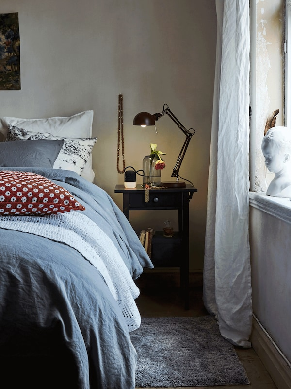 Refresh light to dark with ANGSLILJA bed cover and pillowcases