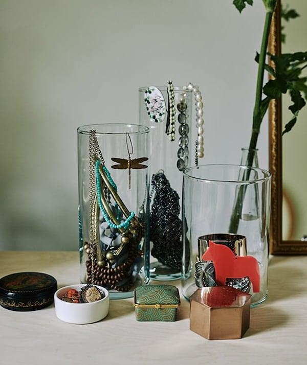 Rental house styling tips - CYLINDER vase - IKEA inspiration