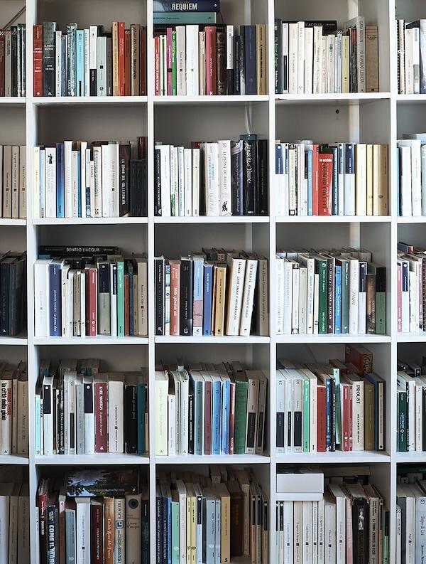 Reol fyldt med bøger.
