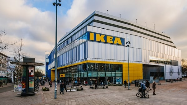 Residents in Hamburg can just walk in off the high street to visit the IKEA store.