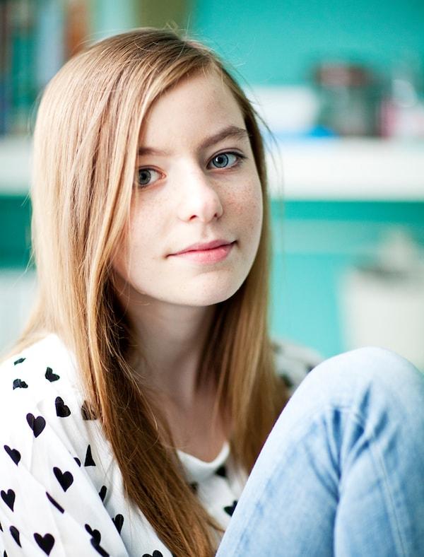 Retrato de una chica joven.