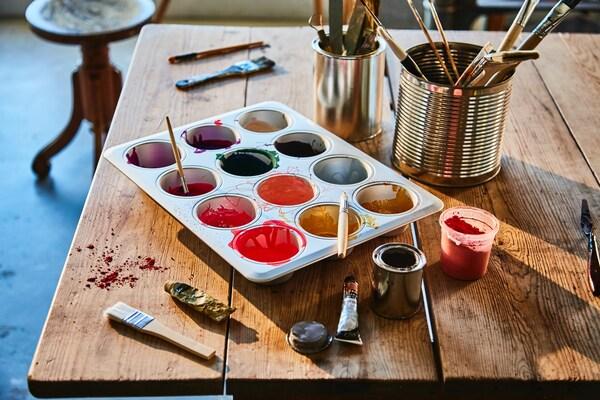 Reutilizar un molde para pintar