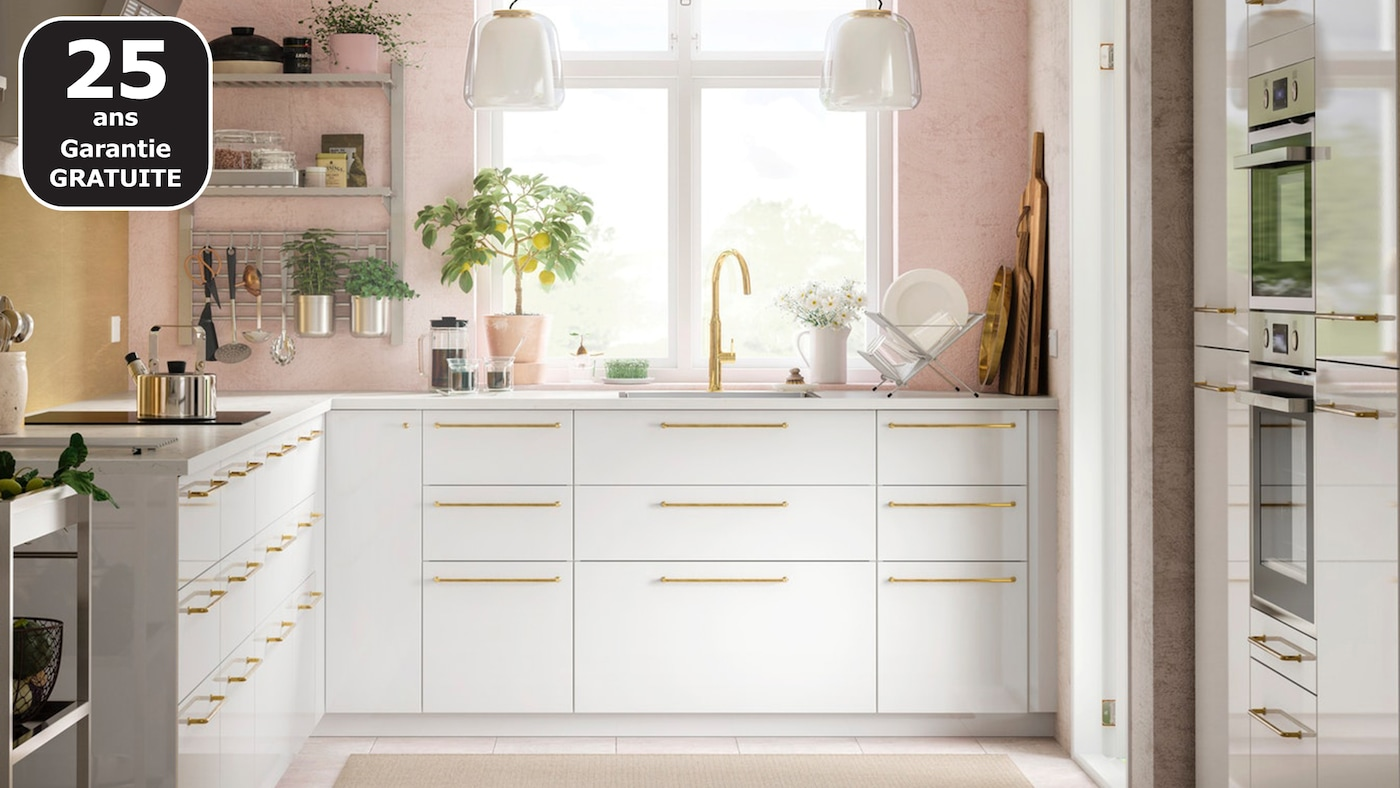 Cuisines METOD finition RINGHULT blanc - IKEA - IKEA