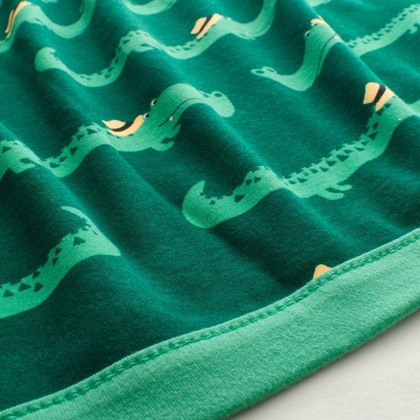 RÖRANDE Babydeken, krokodil, groen