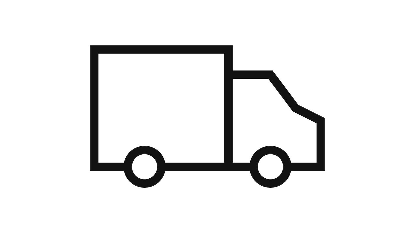 رسم تخطيطي لشاحنة تعبيرًا عن عملية التسليم.