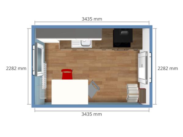 Rzut pomieszczenia
