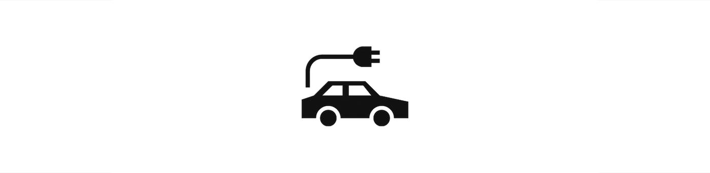 Sähköautojen latauspiste -ikoni