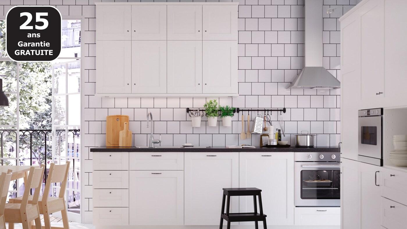 SÄVEDAL blanc cuisine IKEA pas chère