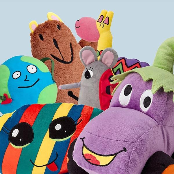 SAGOSKATT Soft toy winners from the 2019 contest.