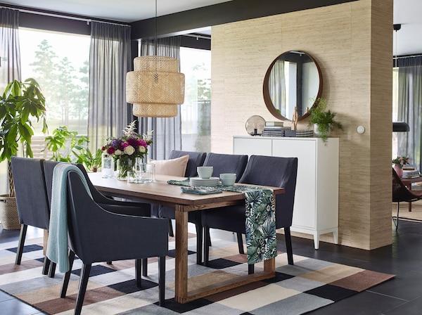 Cucina Bianca Moderna Con Tavolo Antico.Arredamento Per La Sala Da Pranzo Ikea