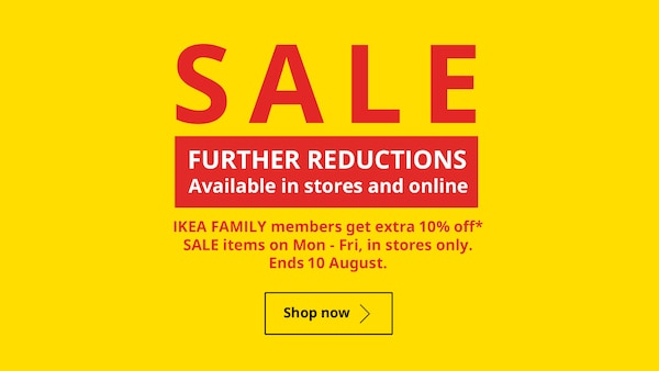 SALE - FURTHER REDUCTIONS Available in stores and online