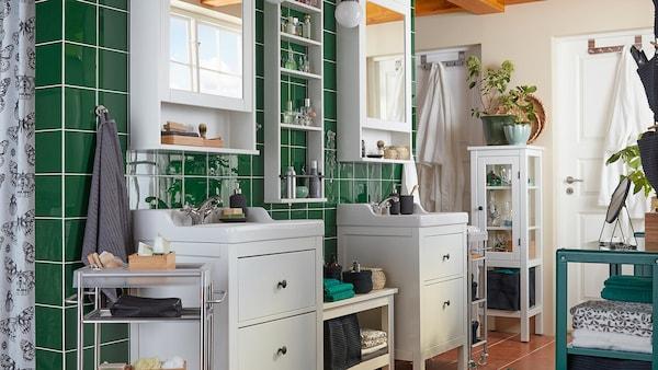 Salle de bain : HEMNES meuble salle de bain IKEA