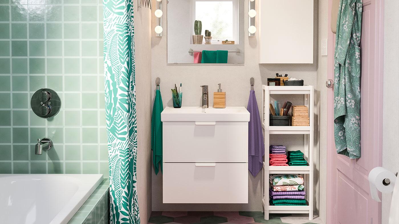 Meubles de salle de bain et d coration ikea - Ustensiles salle de bain ...