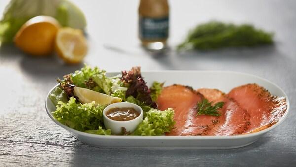 Salmon salad IKEA restaurant