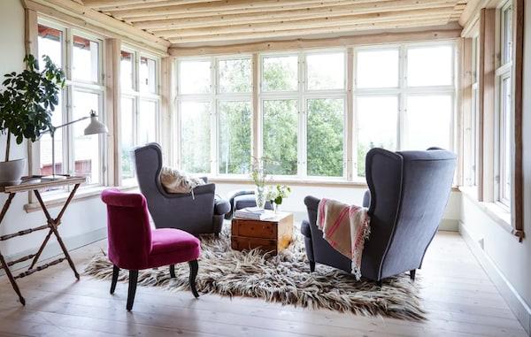 salon z fotelami