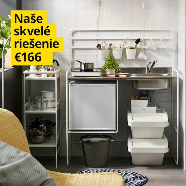Samostatná a prispôsobivá minikuchyňa