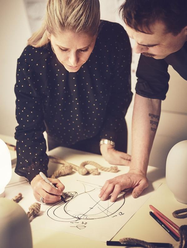 Sarah and Jens Fager, designers.
