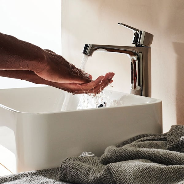 Save water and energy with our bathroom faucets.