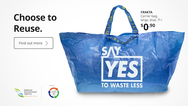 Say yes to waste less with IKEA FRAKTA carrier bag