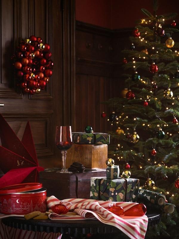Scène d'arbre de Noël