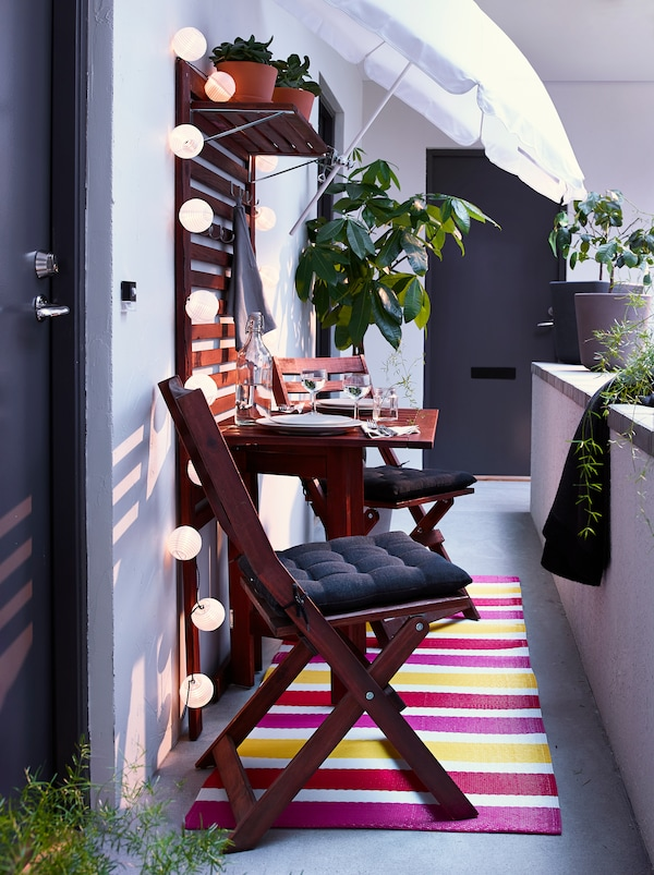 balkonm bel f r schmalen balkon ikea. Black Bedroom Furniture Sets. Home Design Ideas