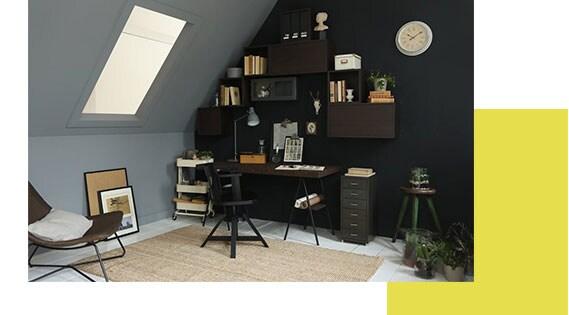 Schuin Dak Maak Een Werkplek Ikea