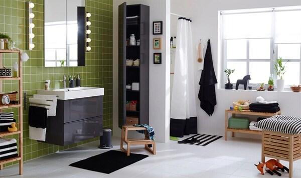 Badezimmer Schwarz Weiss Dekorieren Ikea Deutschland