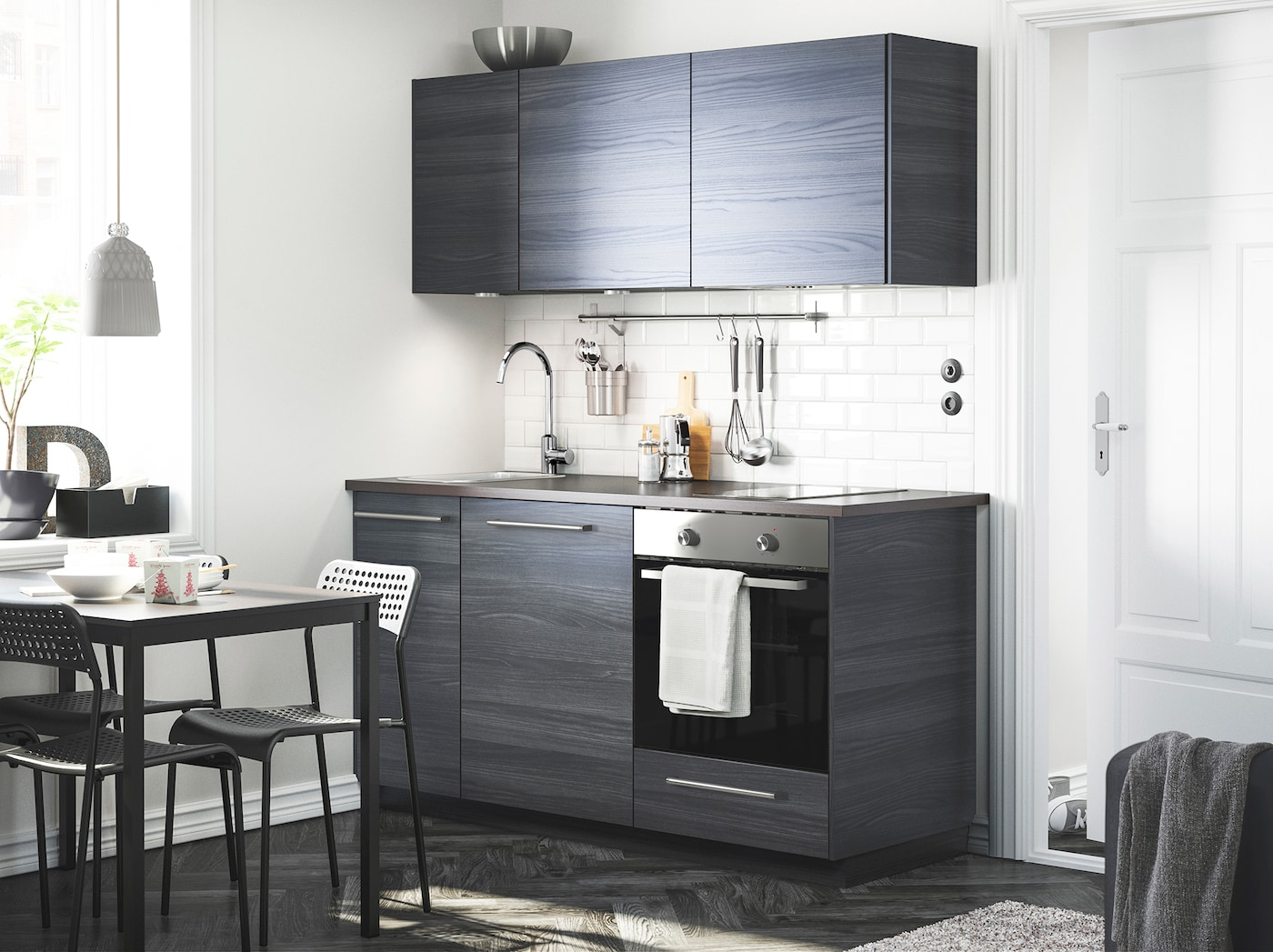 Inspiration schwarze dunkle küchen ikea
