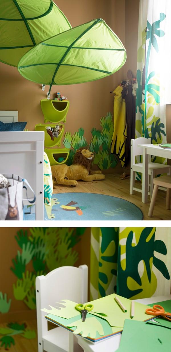 Una cameretta ispirata alla giungla ikea - Cameretta bambino ikea ...