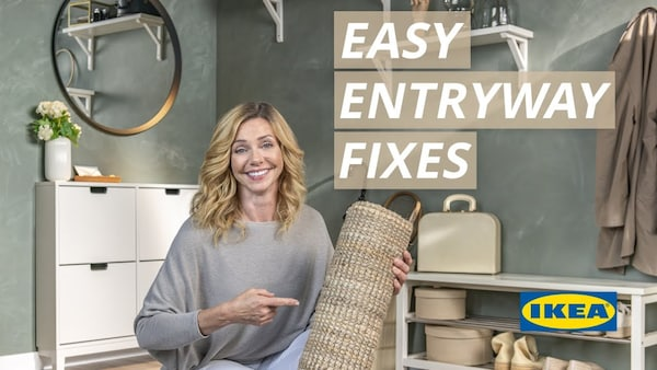 See episode: Easy Entryway Fixes.