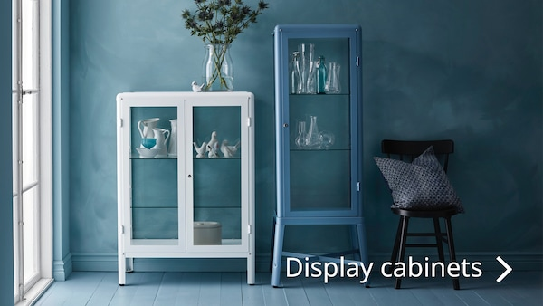 See the FABRIKOR display cabinet and more in Shelving units.