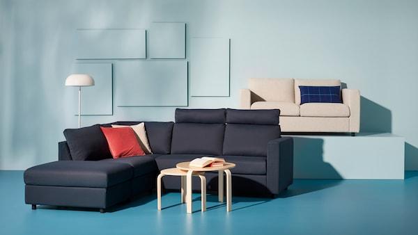 Séria VIMLE v modrej obývačke