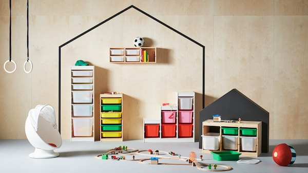 Sèrie d'emmagatzematge de joguines TROFAST.