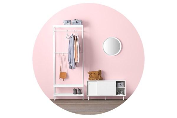 Серия мебели МАККАПЭР для хранения одежды и обуви в прихожей