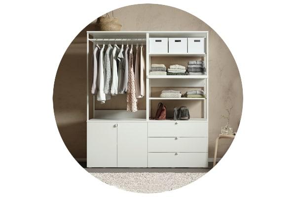 Серия мебели ОПХУС для хранения одежды и обуви в прихожей