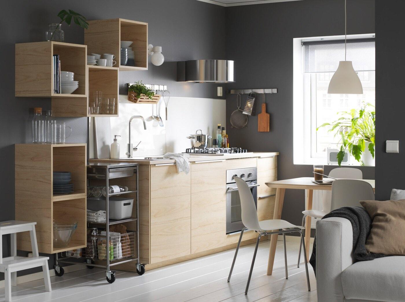 Дизайн кухни из мебели икеа фото