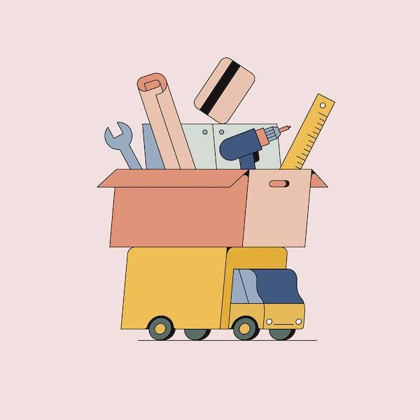 Services de cuisine IKEA.