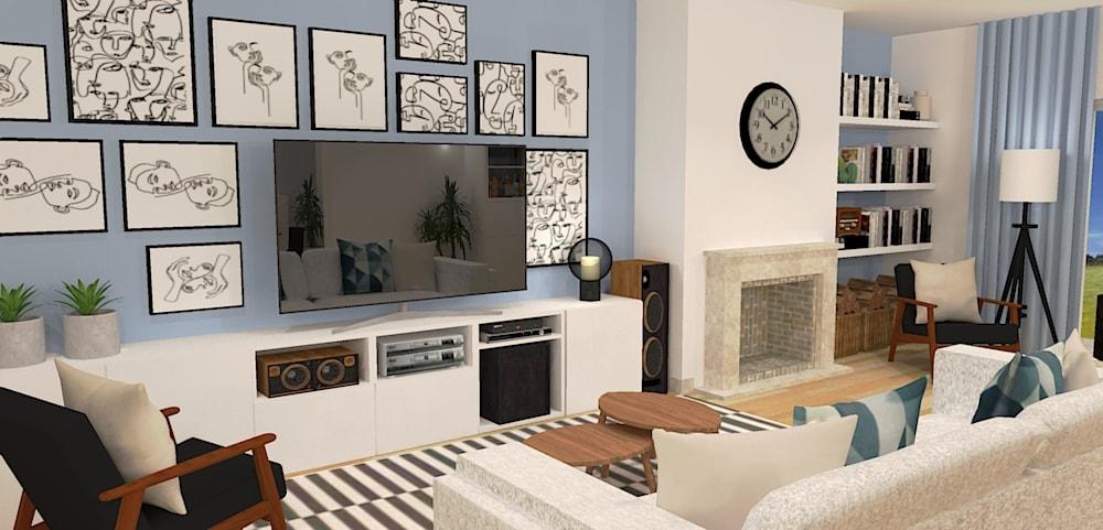 Serviço de Design de interiores para salas