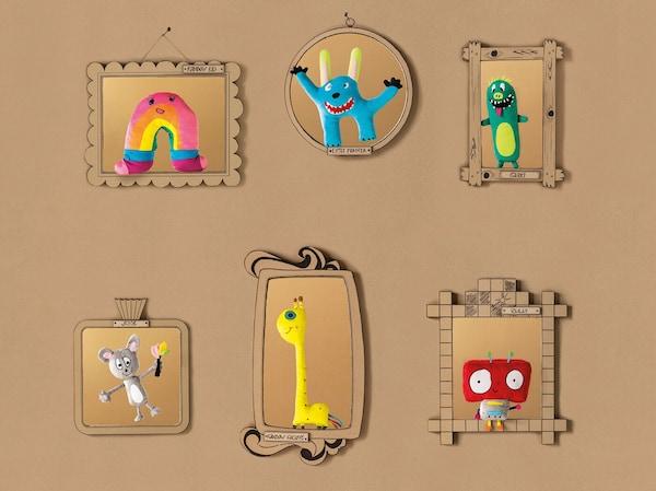 Šest obrázku namalovaných dětskými dizajnéry
