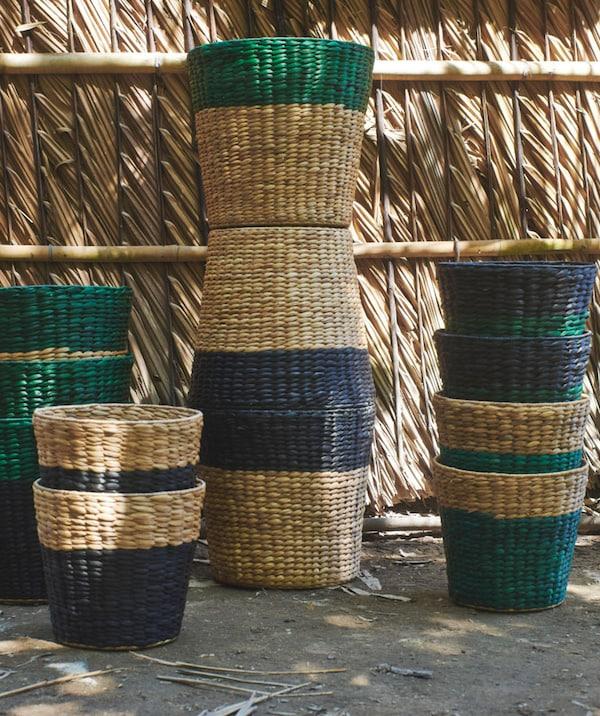 Several NIPPRIG baskets stacked.