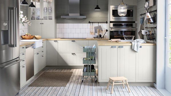 صفحة المعرض مع أفكار المطبخ.