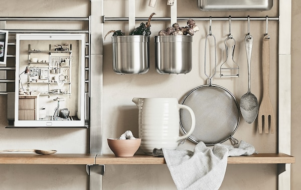 Store More On Your Walls Kitchen Storage Ideas Ikea
